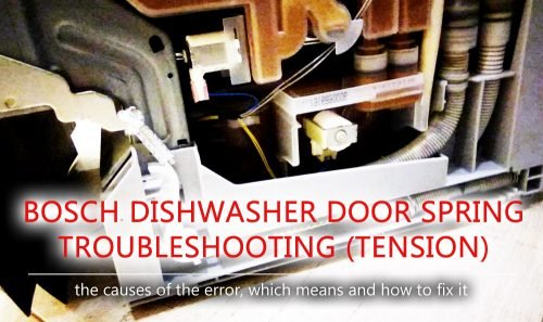 Bosch dishwasher door spring troubleshooting (tension)