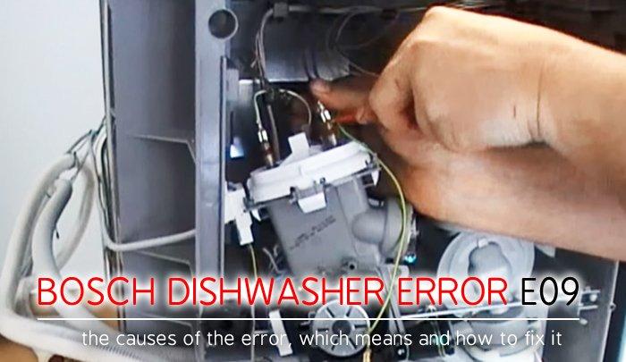 Bosch Dishwasher Error Code E09