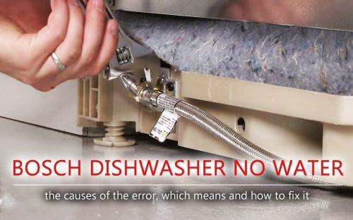 Bosch dishwasher no water