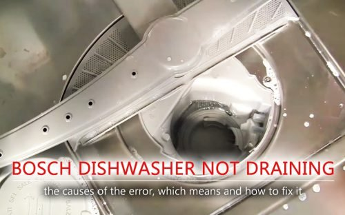 Bosch dishwasher not draining
