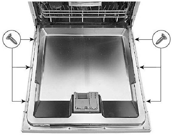 Removing outer door in the dishwasher Bosch