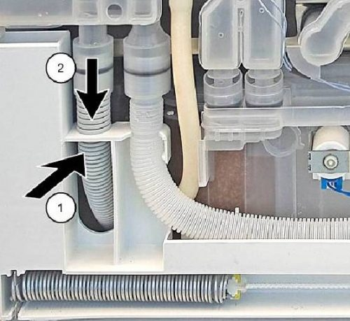 Replacing drainage hose in the dishwasher Bosch