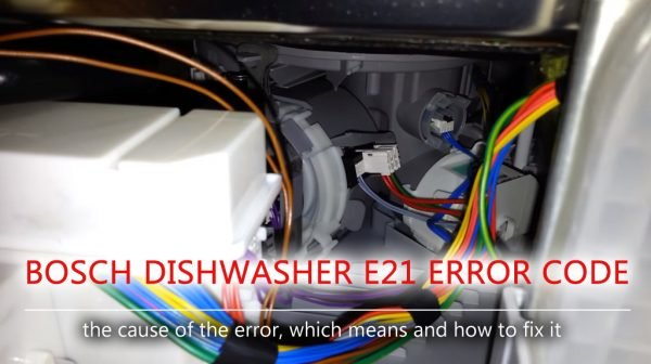 Bosch dishwasher e21 error code