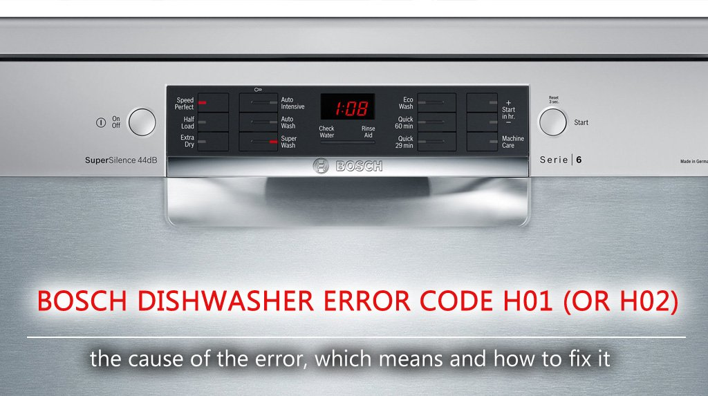 Folkekære Bosch dishwasher error code h01 (or h02) VA-85