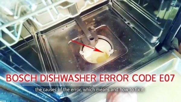 Bosch dishwasher error code e07