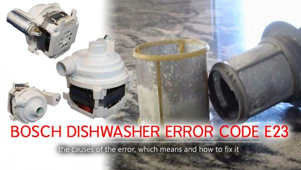Bosch dishwasher error code e23