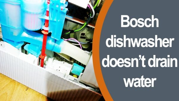 Bosch dishwasher doesn't drain water
