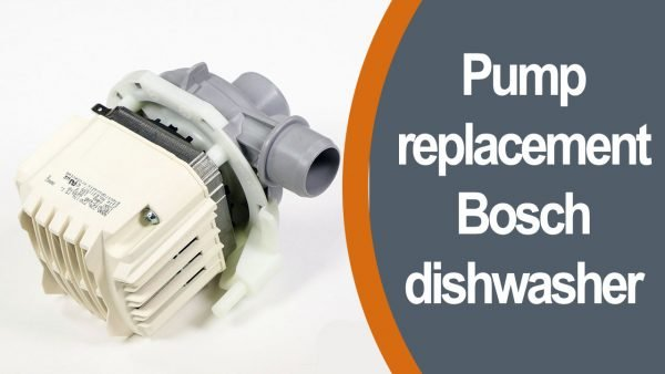 Pump replacement in Bosch dishwasher