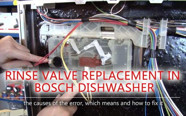 Rinse valve replacement in Bosch dishwasher