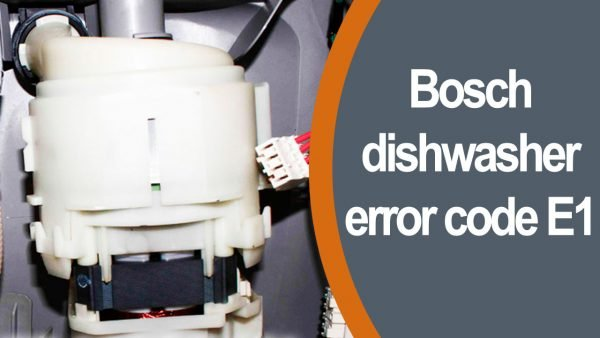 Bosch dishwasher error code e1