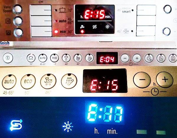 Bosch dishwasher errorcodes on display